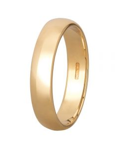 9ct Yellow Gold 4mm D-Shape Wedding Ring BD4.0 9Y