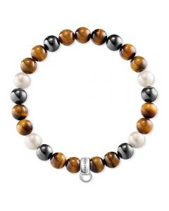 Thomas Sabo Tigers Eye With Pearl Bracelet X0218-948-2