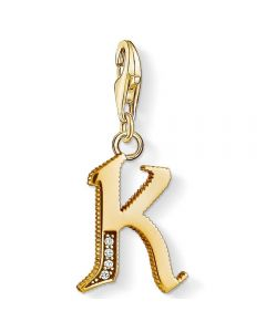 THOMAS SABO Gold Plated Cubic Zirconia K Charm 1617-414-39