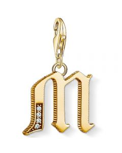 THOMAS SABO Gold Plated Cubic Zirconia M Charm 1619-414-39