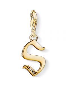 Thomas Sabo Gold Plated Cubic Zirconia S Charm 1625-414-39
