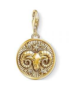 Thomas Sabo Gold Plated Cubic Zirconia Aries Charm 1652-414-39