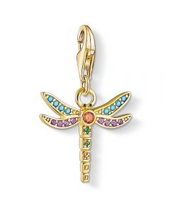 THOMAS SABO Gold Plated Multistone Dragonfly Charm 1758-974-7