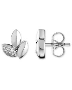 Thomas Sabo Ladies Silver Diamond Leaves Earrings D_H0006-725-21