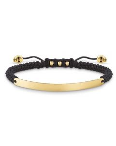 THOMAS SABO Ladies Gold Plated Skull Love Bridge Bracelet LBA0050-848-11-L21