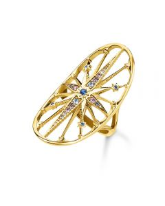 Thomas Sabo Gold Plated Royalty Star Ring TR2223-959-7