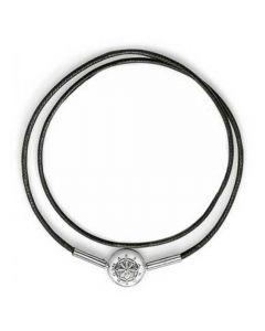 Thomas Sabo Silver Black String Double Bracelet KA0003-653-11-L
