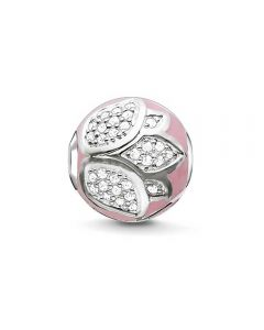 THOMAS SABO Karma Silver Pink Lotus Blossom Bead K0203-041-9
