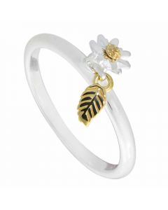 Daisy London Silver Gold Plated Daisy London Feather Ring SR535