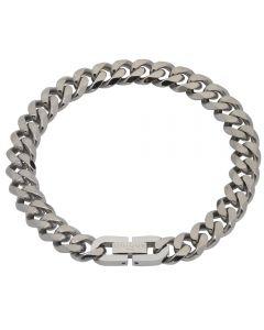 Unique Stainless Steel Matte Polished Filed Curb Bracelet LAB-126/21CM