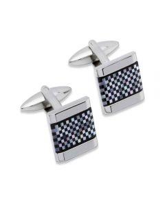 Unique Stainless Steel Checkered Cufflinks QC-91
