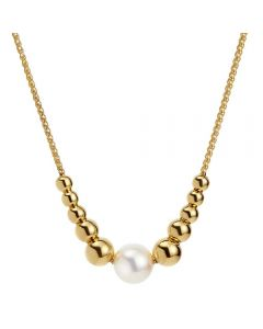 Jersey Pearl Coast Gold Plated Pearl Pebble Necklace COAN-YG
