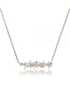 Sif Jakobs Rose Gold Plated Antella Necklace SJ-C1008-CZ(RG)