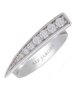 Sif Jakobs Ladies Rhodium Plated 'Pila' Graduated White Cubic Zirconia Ring SJ-R1010-CZ
