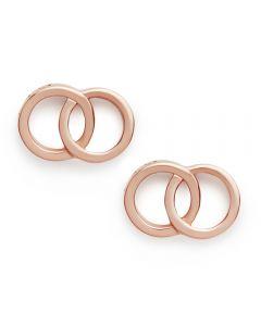 Olivia Burton The Classics Interlink Rose Gold Plated Stud Earrings OBJCOE72