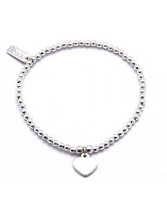 ChloBo Iconic Mini Plain Heart Charm Bracelet CCA1