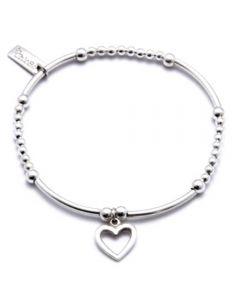 ChloBo Iconic Mini Open Heart Charm Bracelet CMA4