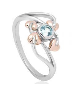 Clogau Silver Blue Topaz Love Vine Ring 3SLVR01