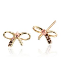 Clogau Tree Of Life Bow Stud Earrings TOLBE
