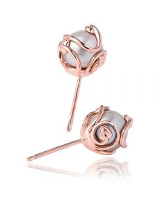 Clogau 9ct Rose Gold Tree Of Life Pearl Earrings TOLCPE2