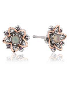 Clogau Lotus Stud Earrings 3SLTUSE