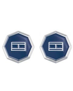 Tommy Hilfiger Stainless Steel Octagonal Blue Cufflnks 2790042