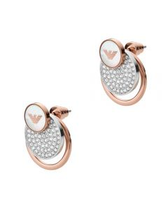 Emporio Armani Signature Crystal Circle Earrings EGS2364040