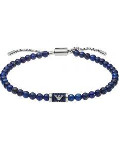 Emporio Armani Heritage Stainless Steel Lapis Lazuli Toggle Bracelet EGS2612040