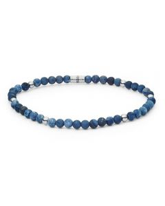 Fossil Vintage Casual Blue Beaded Bracelet Jf02835040