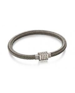 Fred Bennett Stainless Steel Grey Woven Bracelet B5054