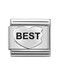 Nomination CLASSIC Silvershine Best (Best Friends) Heart Charm 330101/44
