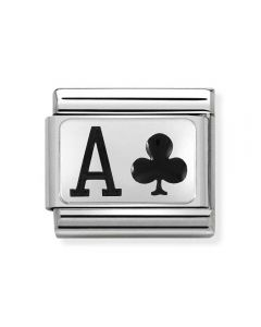 Nomination CLASSIC Silvershine Ace of Clubs Charm 330208/26