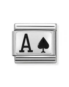 Nomination CLASSIC Silvershine Ace of Spades Charm 330208/27