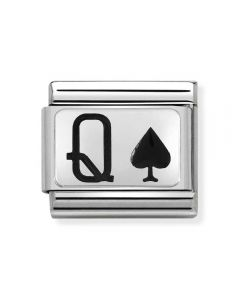 Nomination CLASSIC Silvershine Queen of Spades Charm 330208/31