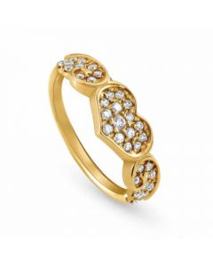 Nomination Angel Gold Plated Sparkling Flying Heart Ring 145380/012