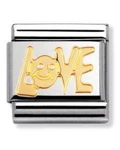Nomination CLASSIC Gold Writings Love Charm 030107/06
