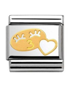 Nomination CLASSIC Gold Valentine Her Smile With Heart Charm 030161/07
