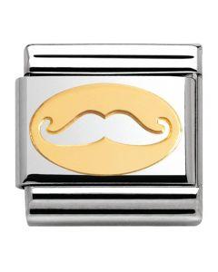 Nomination CLASSIC Gold Madame Monsieur Moustache Charm 030162/09