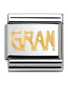Nomination CLASSIC Gold Writings Gran Charm 030107/18
