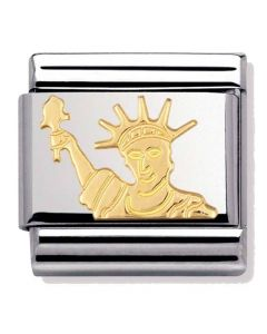 Nomination CLASSIC Gold Monuments Statue of Liberty Charm 030128/08