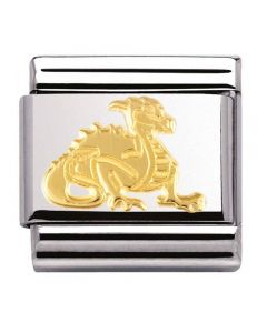 Nomination CLASSIC Gold Fantasia Dragon Charm 030149/09