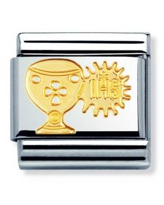 Nomination CLASSIC Gold Religious Chalice and Host Charm 030105/02