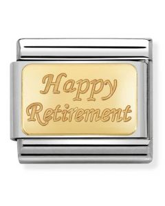 Nomination CLASSIC Gold Engraved Signs Retirement Charm 030121/41