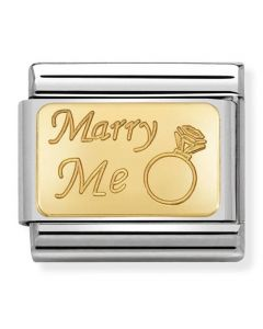Nomination CLASSIC Gold Engraved Signs Marry Me Charm 030121/44