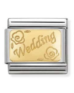 Nomination CLASSIC Gold Engraved Signs Wedding Charm 030121/45