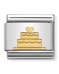 Nomination CLASSIC Gold Symbols Tiered Heart Charm 030162/40