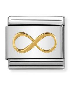 Nomination CLASSIC Gold Symbols Infinity Charm 030162/41