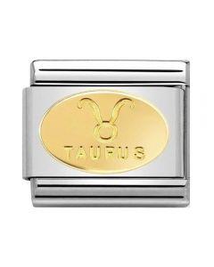 Nomination CLASSIC Gold Zodiac Oval Taurus Charm 030165/02
