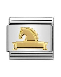 Nomination CLASSIC Gold Symbols Horse At Fence Charm 030149/25