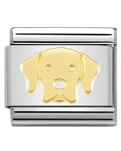 Nomination CLASSIC Gold Labrador Charm 030162/57